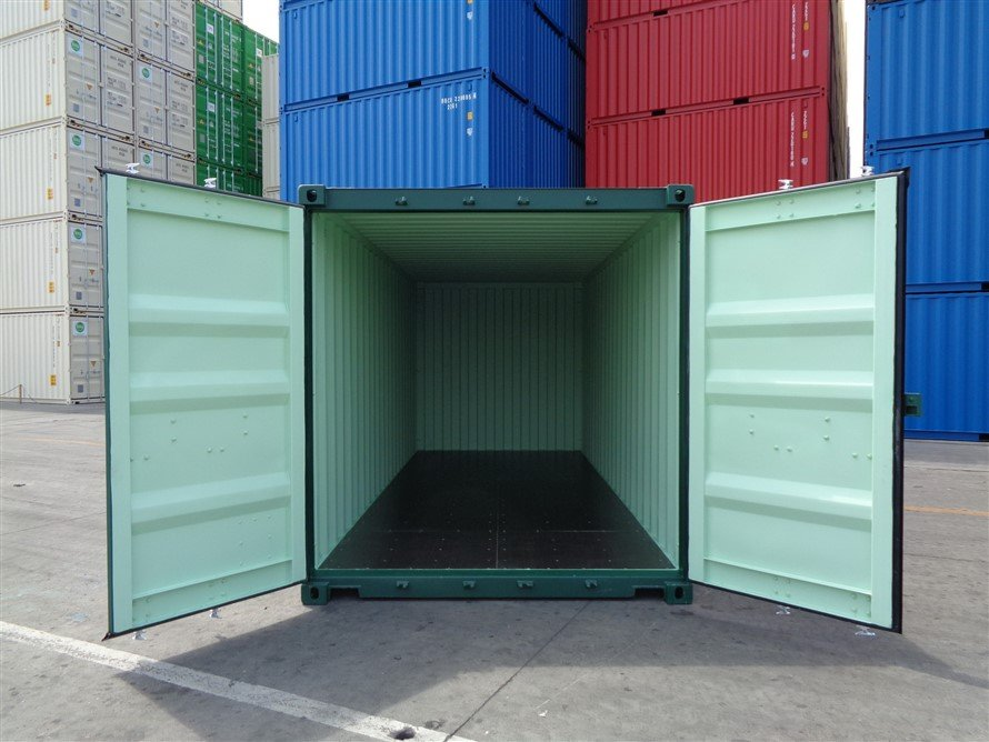 20 foot new shipping container open doors